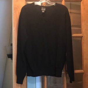 JOS A Bank 100% Cashmere Black Sweater